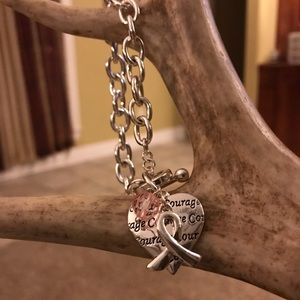 "Jewelry - Breast Cancer Awareness Bracelet ""Courage"""